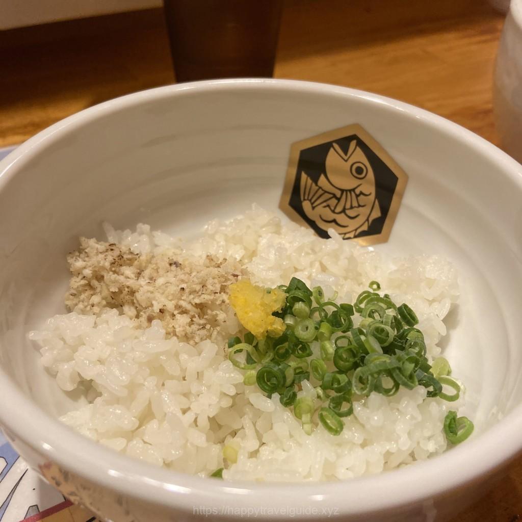 真鯛ラーメン麺魚で食べる