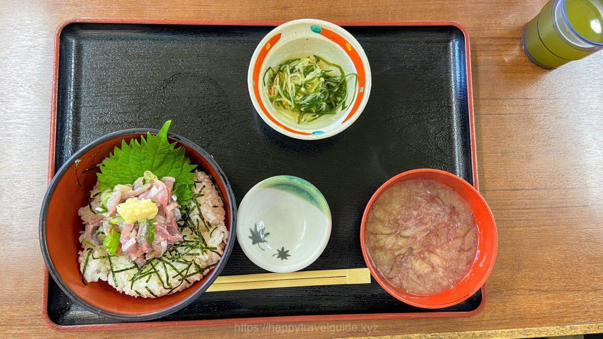 地魚たたき丼 朝定食