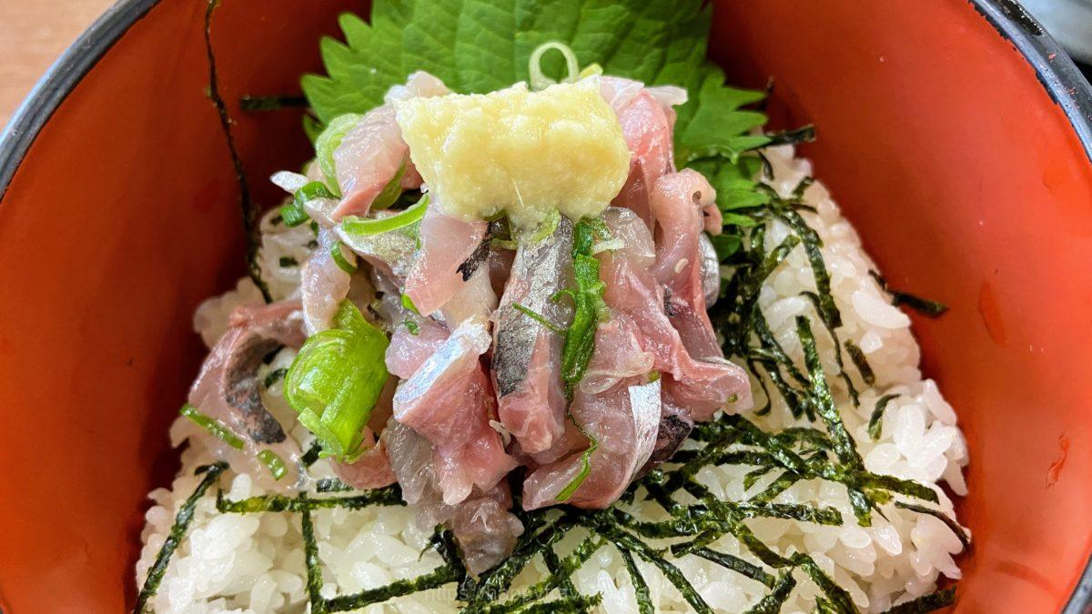 地魚たたき丼 アジ