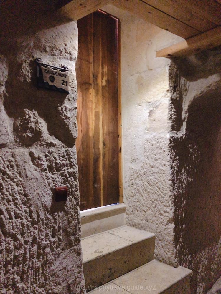 ホテルの部屋の入口