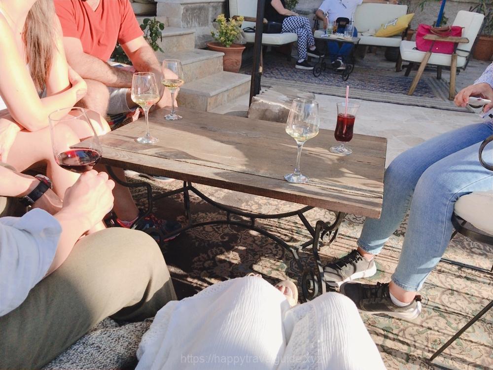最後はアフタヌーンワインで乾杯♪