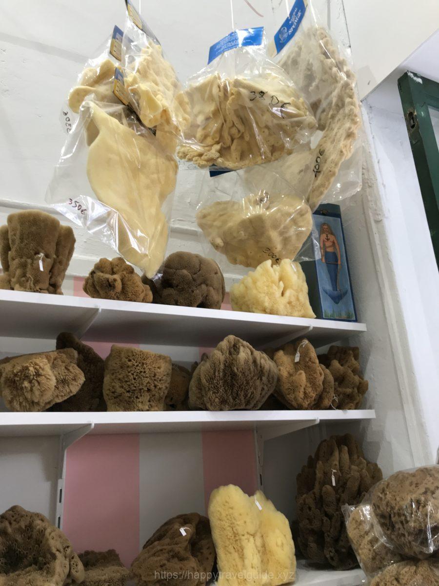 Gorgona spongesで海綿のお土産
