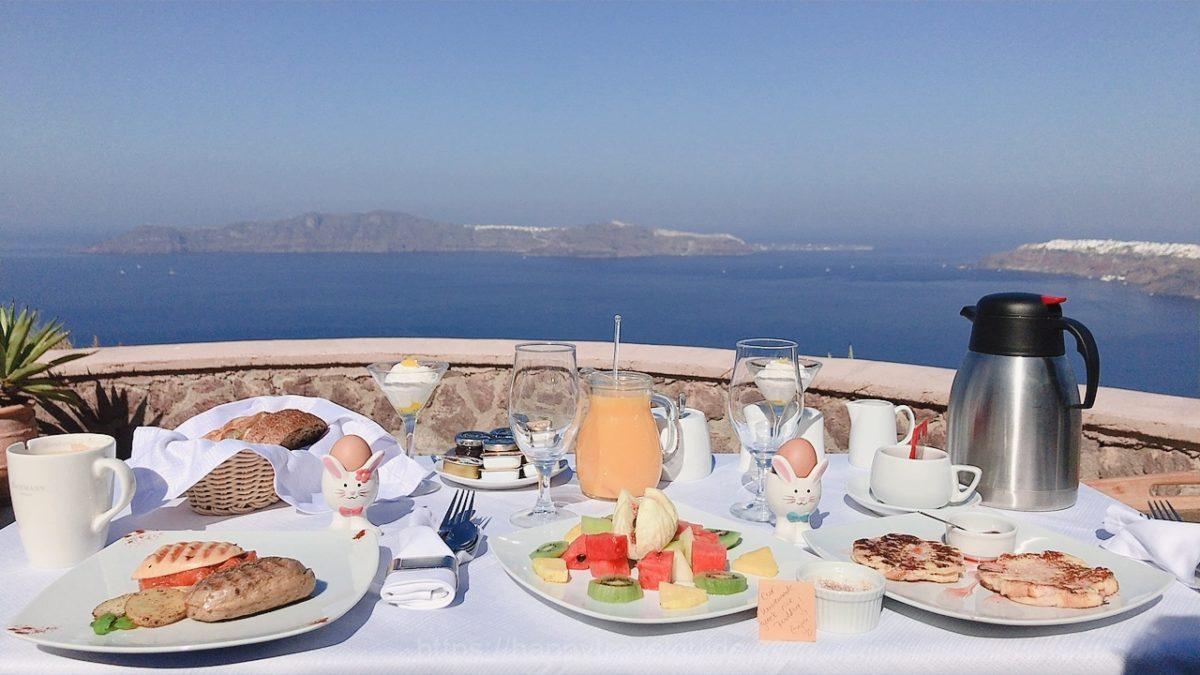 Anastasis apartment hotelの朝食