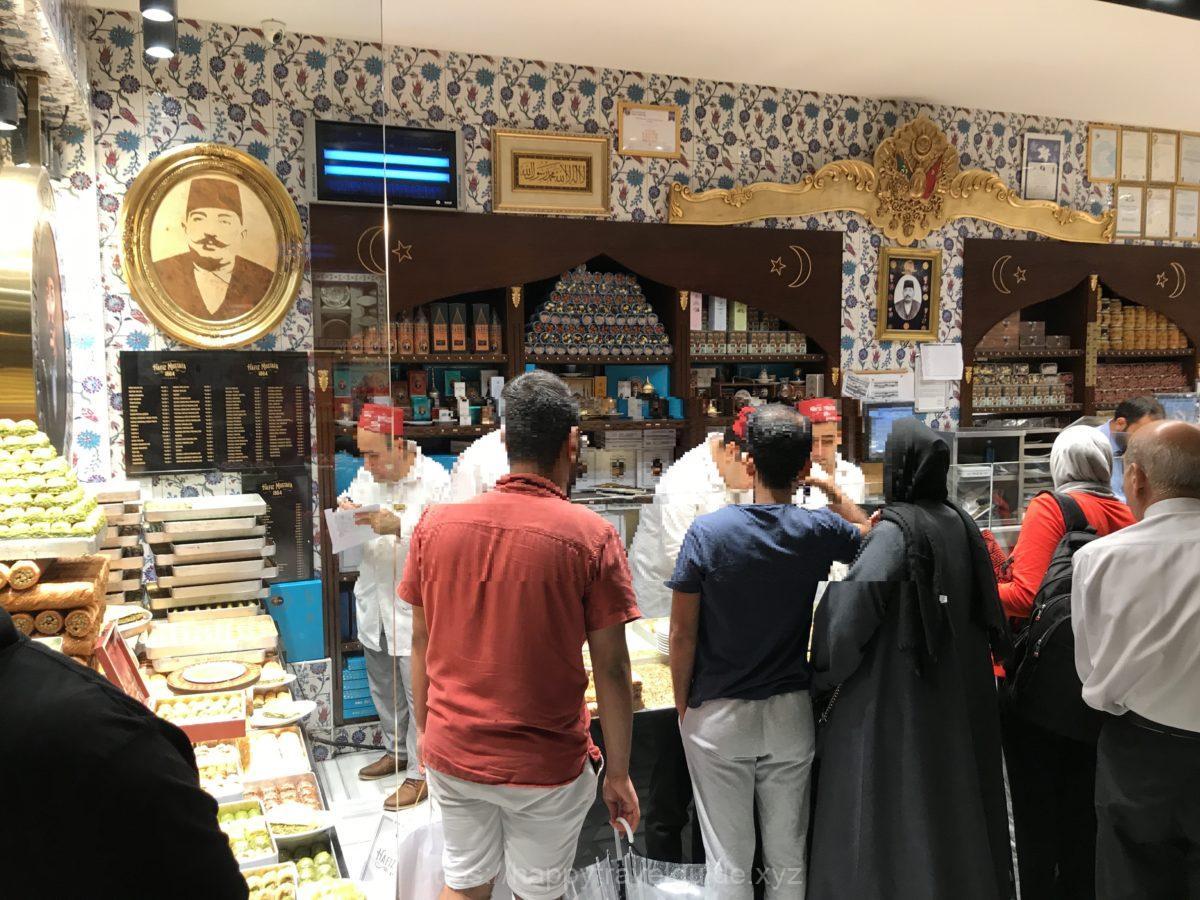 Hafiz Mustafaでロクムのお土産