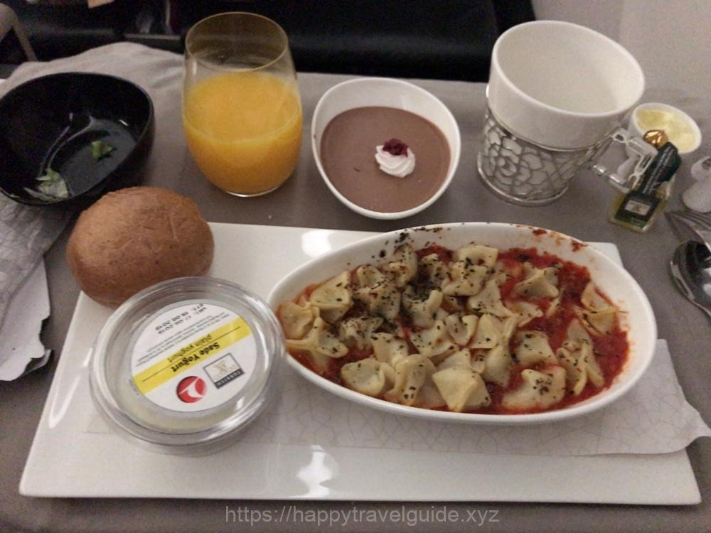 ターキッシュエアライン ビジネスクラスの機内食