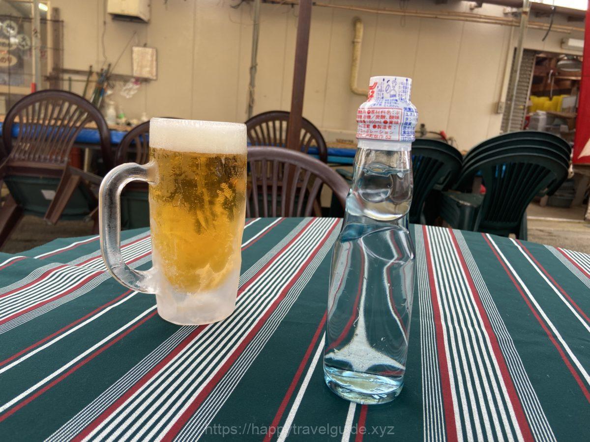 ビールとサイダー