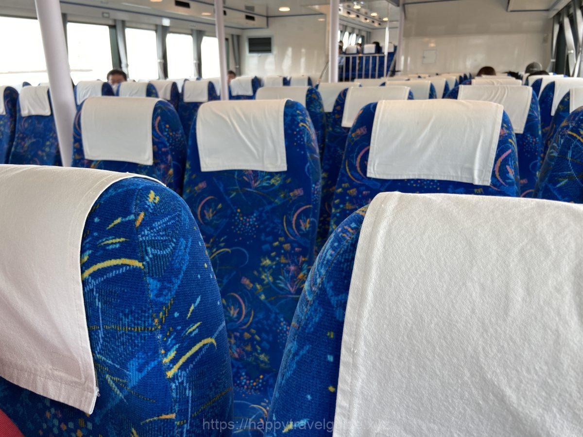 日間賀島 観光船 シート
