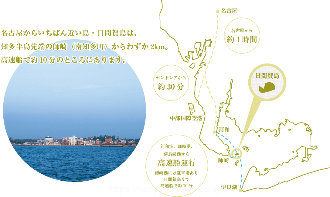 日間賀島マップ
