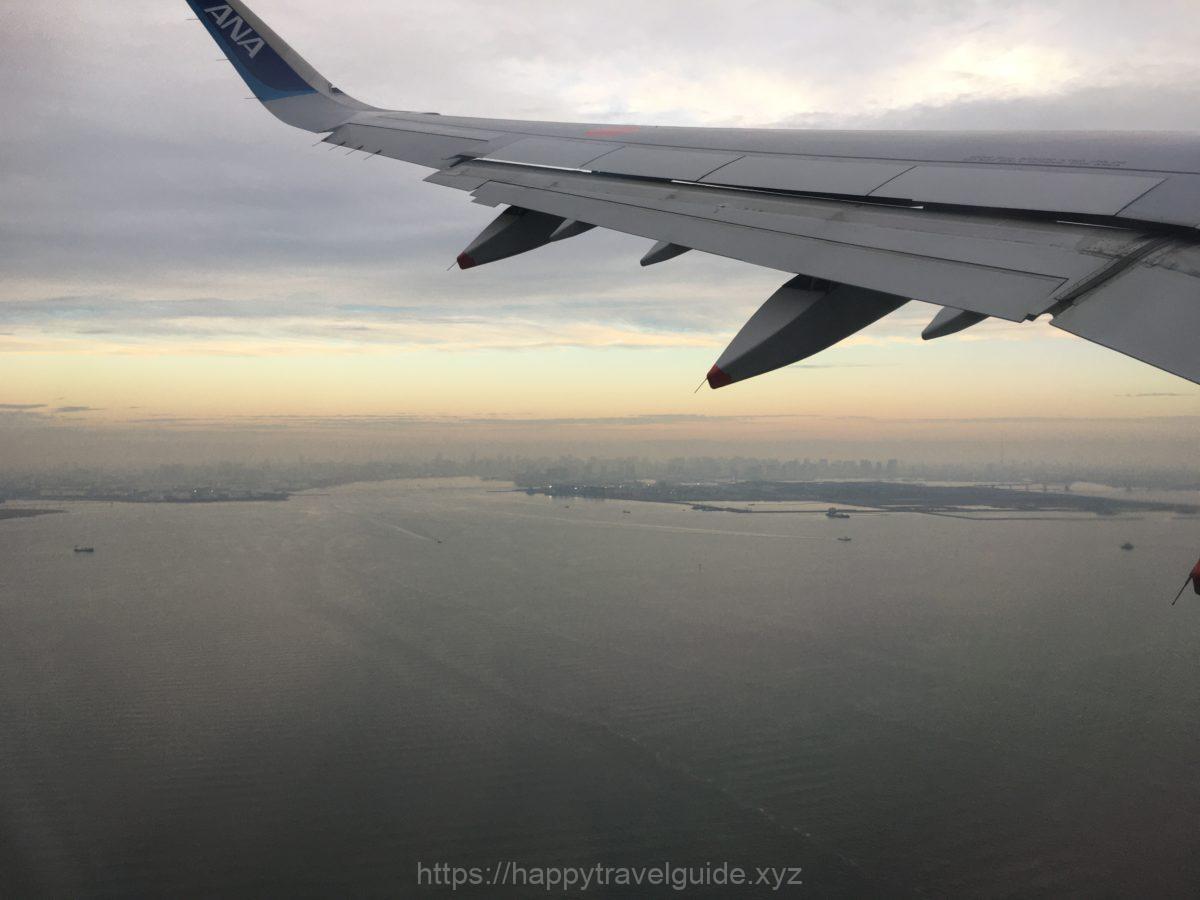 機内から 東京湾